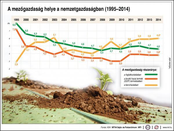 A mezőgazdaság helye a nemzetgazdaságban - ábra