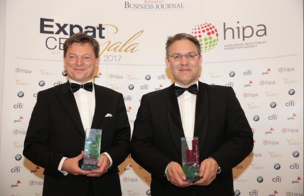 Külföldi vállalatvezetőket díjazott a BBJ és a HIPA