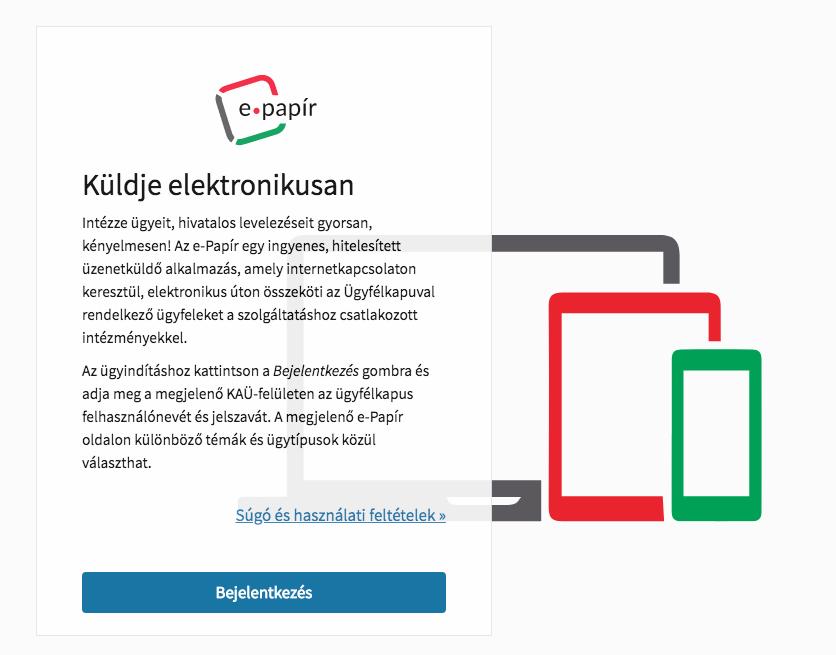 belépés és regisztráció az epapir.gov.hu oldalra